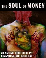 Feature thumb standing together in financial difficulties the soul of money