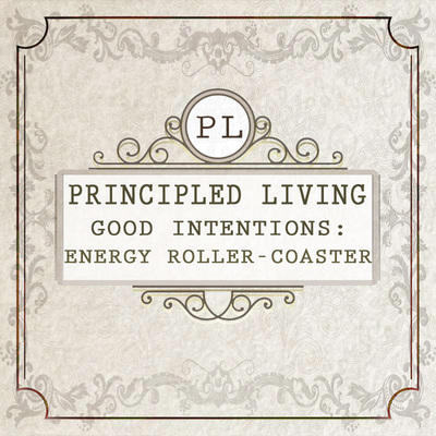 Full good intentions energy roller coaster principled living