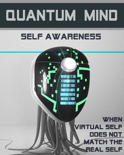 Full when virtual self does not match the real self quantum mind self awareness