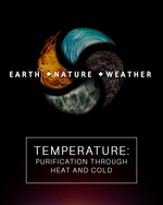 Feature thumb temperature purification through heat and cold earth nature and weather
